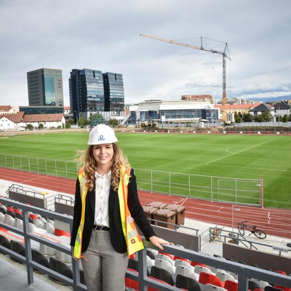 Cum se construiește noul stadion al Sibiului: cu tineri, scanări 3D, teste în tuneluri de vânt